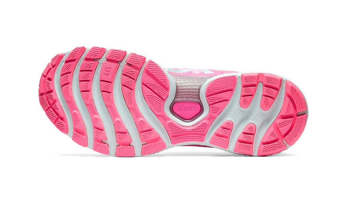 Women's Asics GEL-Nimbus 22 Running Shoe - Color: Hot Pink/Pure Silver (Regular Width) - Size: 6.5, Hot Pink, large, image 4