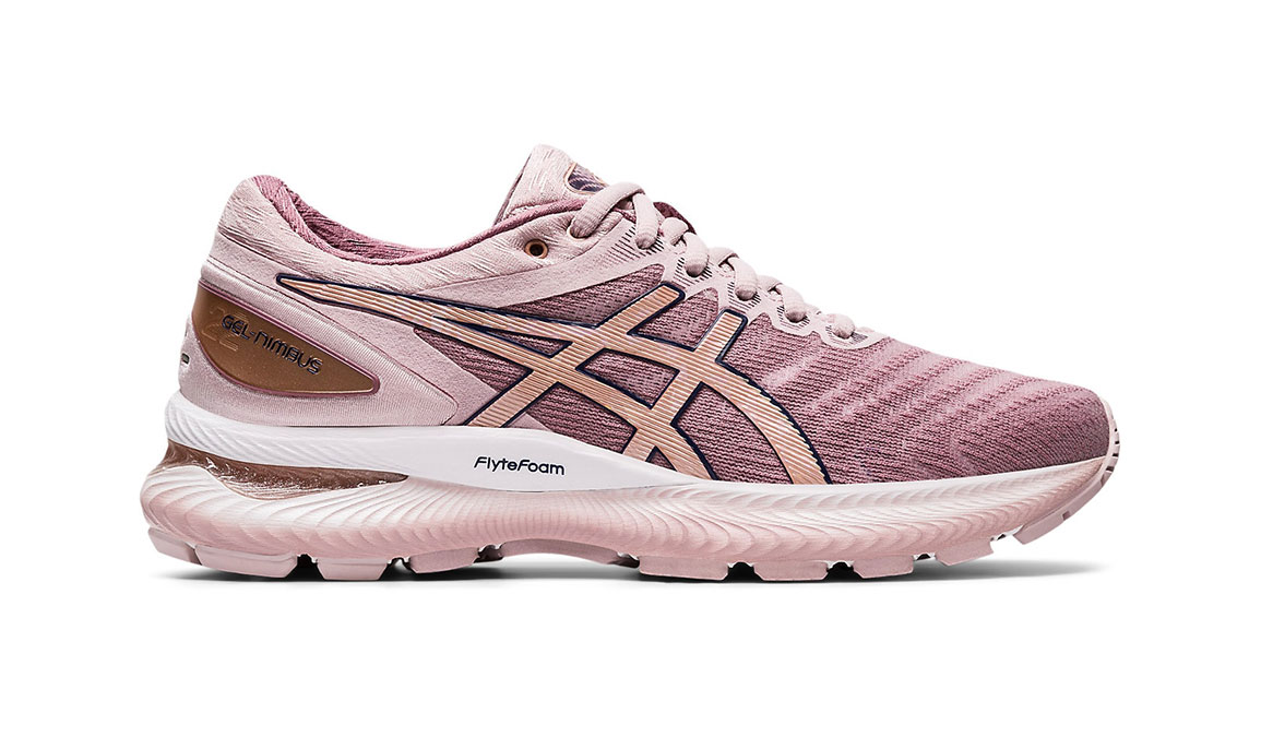Women's Asics GEL-Nimbus 22 Running Shoe - Color: Watershed Rose/Rose Gold (Regular Width) - Size: 5, Rose, large, image 1