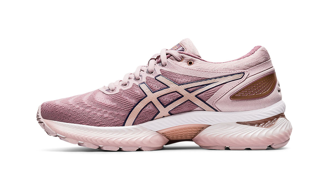Women's Asics GEL-Nimbus 22 Running Shoe - Color: Watershed Rose/Rose Gold (Regular Width) - Size: 5, Rose, large, image 2