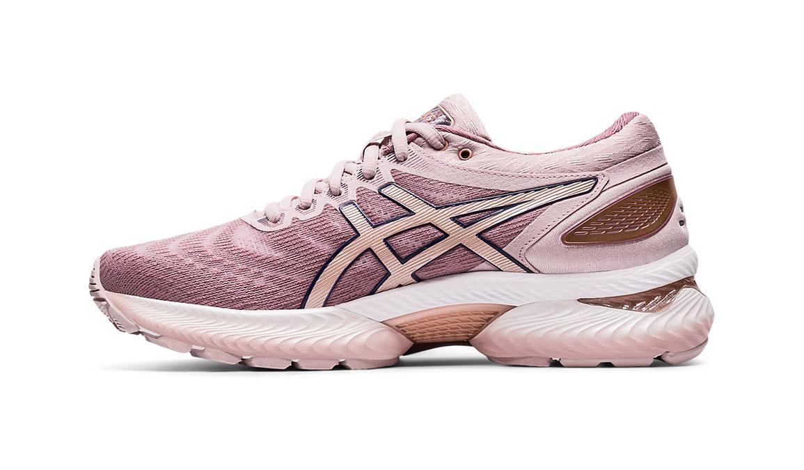 Women's Asics GEL-Nimbus 22 Running Shoe - Color: Watershed Rose/Rose Gold (Regular Width) - Size: 5, Rose, large, image 2