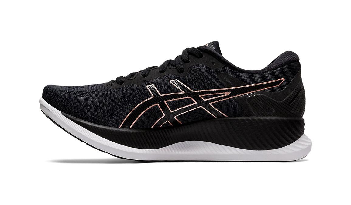 Women's Asics GlideRide Running Shoe - Color: Black/Rose Gold (Regular Width) - Size: 11.5, Black/Rose Gold, large, image 2