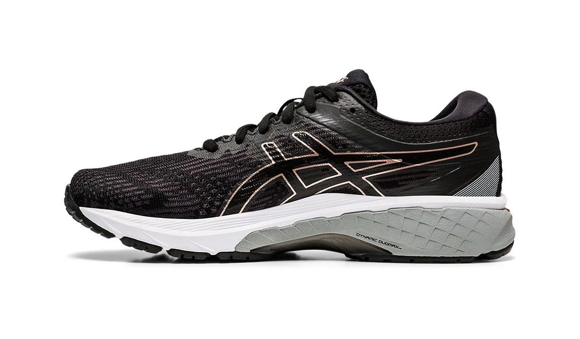Women's Asics GT-2000 8 Running Shoe - Color: Black/Rose Gold (Regular Width) - Size: 5, Black/Rose Gold, large, image 2