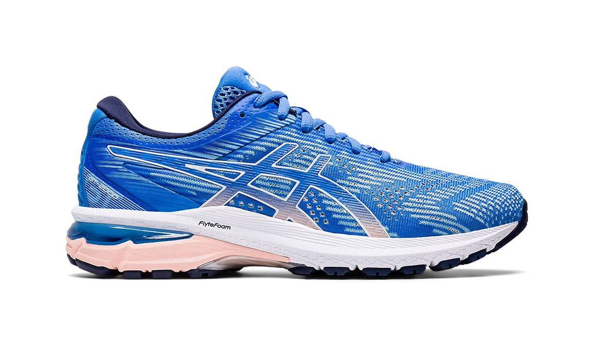 Women's Asics GT-2000 8 Running Shoe - Color: Blue Coast/White (Regular Width) - Size: 5, Blue/White, large, image 1
