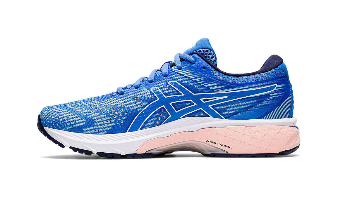 Women's Asics GT-2000 8 Running Shoe - Color: Blue Coast/White (Regular Width) - Size: 5, Blue/White, large, image 2