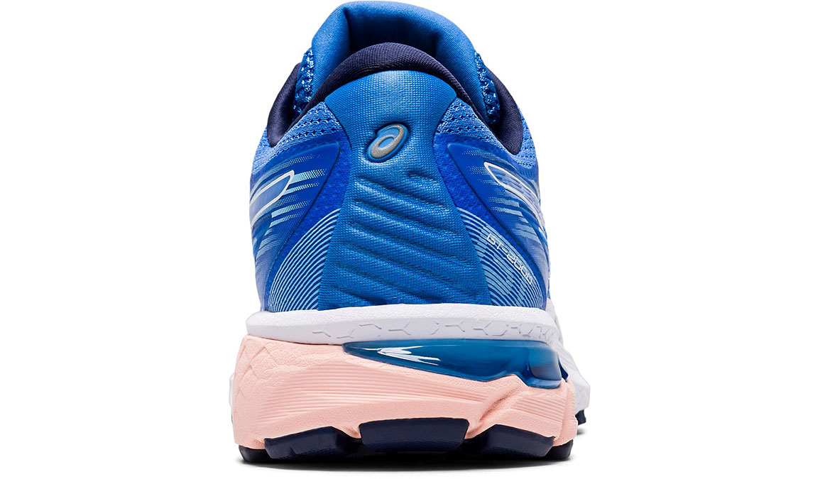 Women's Asics GT-2000 8 Running Shoe - Color: Blue Coast/White (Regular Width) - Size: 5, Blue/White, large, image 4