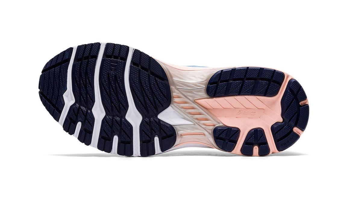 Women's Asics GT-2000 8 Running Shoe - Color: Blue Coast/White (Regular Width) - Size: 5, Blue/White, large, image 3