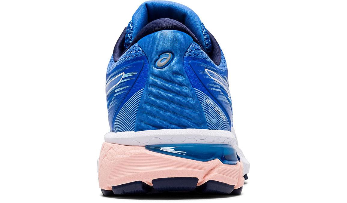 Women's Asics GT-2000 8 Running Shoe - Color: Blue Coast/White (Regular Width) - Size: 5, Blue/White, large, image 4