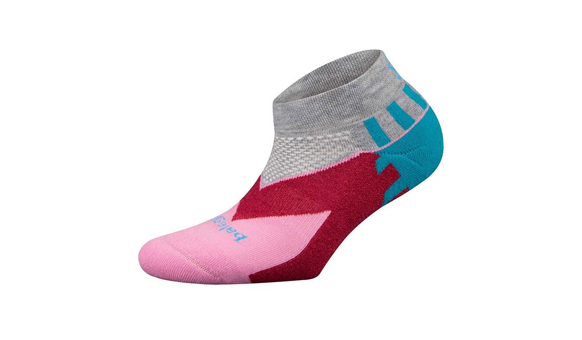 Women's Balega Enduro Low Cut Socks - Color: Mid Grey/Pink Size: M, Grey/Pink, large, image 1