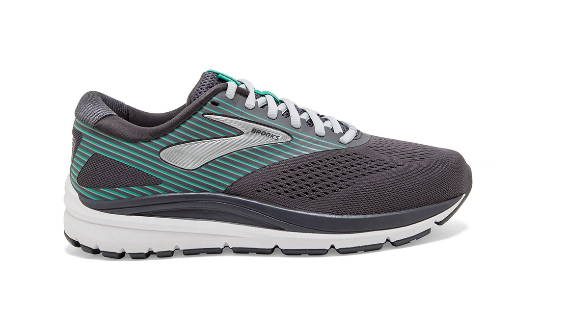 Women's Brooks Addiction 14 Running Shoe - Color: Blackened Pearl/Arcadia (Regular Width) - Size: 8.5, Black/Green, large, image 1