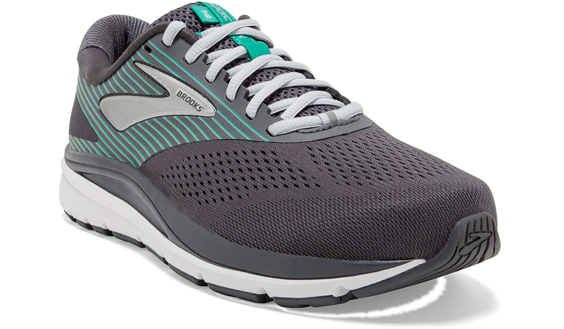Women's Brooks Addiction 14 Running Shoe - Color: Blackened Pearl/Arcadia (Regular Width) - Size: 8.5, Black/Green, large, image 2