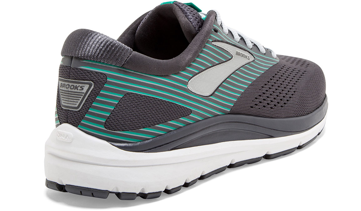 Women's Brooks Addiction 14 Running Shoe - Color: Blackened Pearl/Arcadia (Regular Width) - Size: 8.5, Black/Green, large, image 3