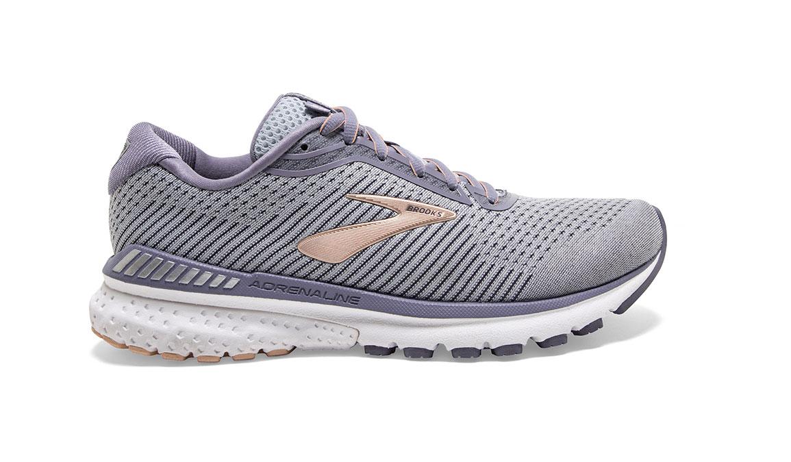 Women's Brooks Adrenaline GTS 20 Running Shoe - Color: Grey/Pale Peach (Regular Width) - Size: 6, Grey/Peach, large, image 1