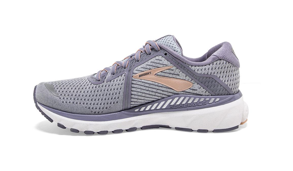 Women's Brooks Adrenaline GTS 20 Running Shoe - Color: Grey/Pale Peach (Regular Width) - Size: 6, Grey/Peach, large, image 4