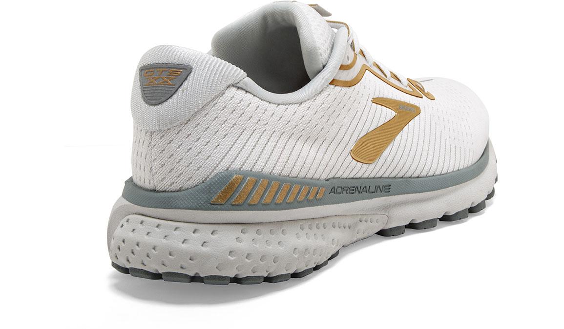 Women's Brooks Adrenaline GTS 20 Running Shoe - Color: White/Grey/Gold (Regular Width) - Size: 6, White/Gold, large, image 3