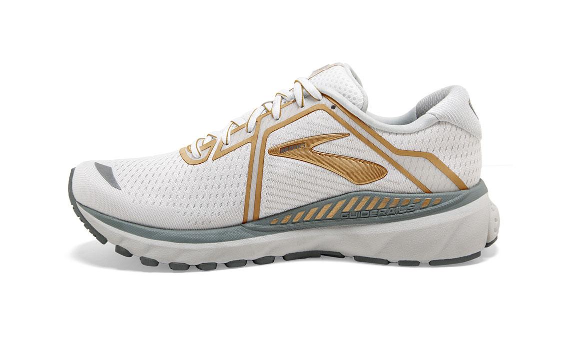 Women's Brooks Adrenaline GTS 20 Running Shoe - Color: White/Grey/Gold (Regular Width) - Size: 6, White/Gold, large, image 4