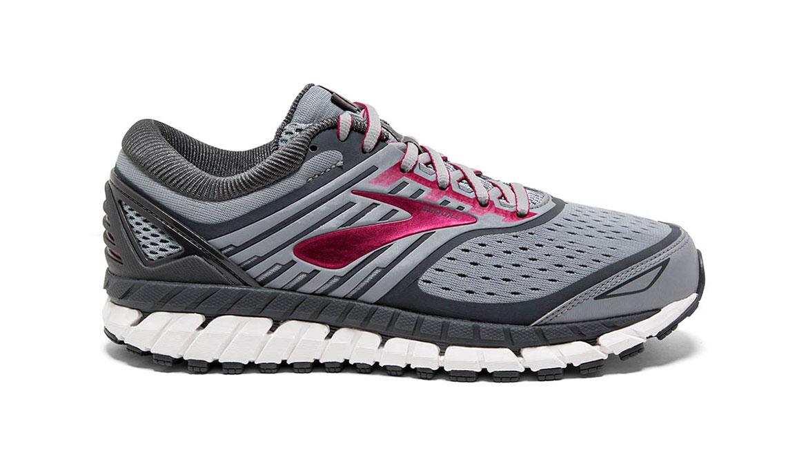 Women's Brooks Ariel 18 Running Shoe - Color: Grey/Pink (Regular Width) - Size: 10, Grey/Pink, large, image 1