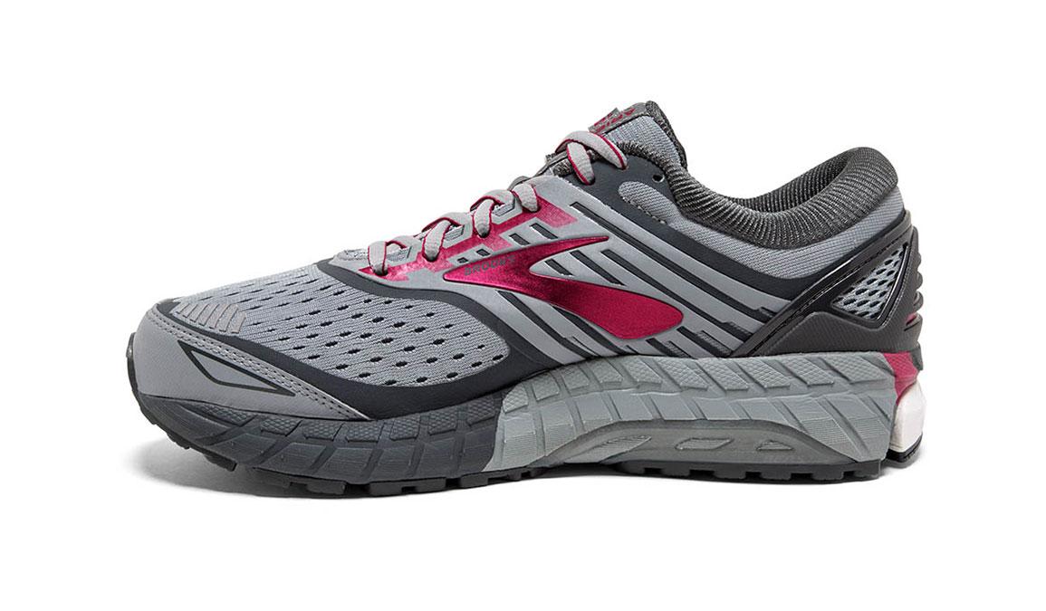 Women's Brooks Ariel 18 Running Shoe - Color: Grey/Pink (Regular Width) - Size: 10, Grey/Pink, large, image 2