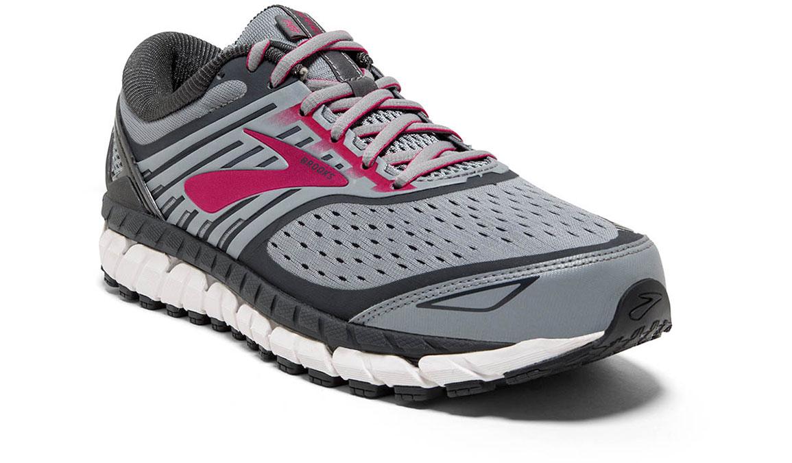 Women's Brooks Ariel 18 Running Shoe - Color: Grey/Pink (Regular Width) - Size: 10, Grey/Pink, large, image 3