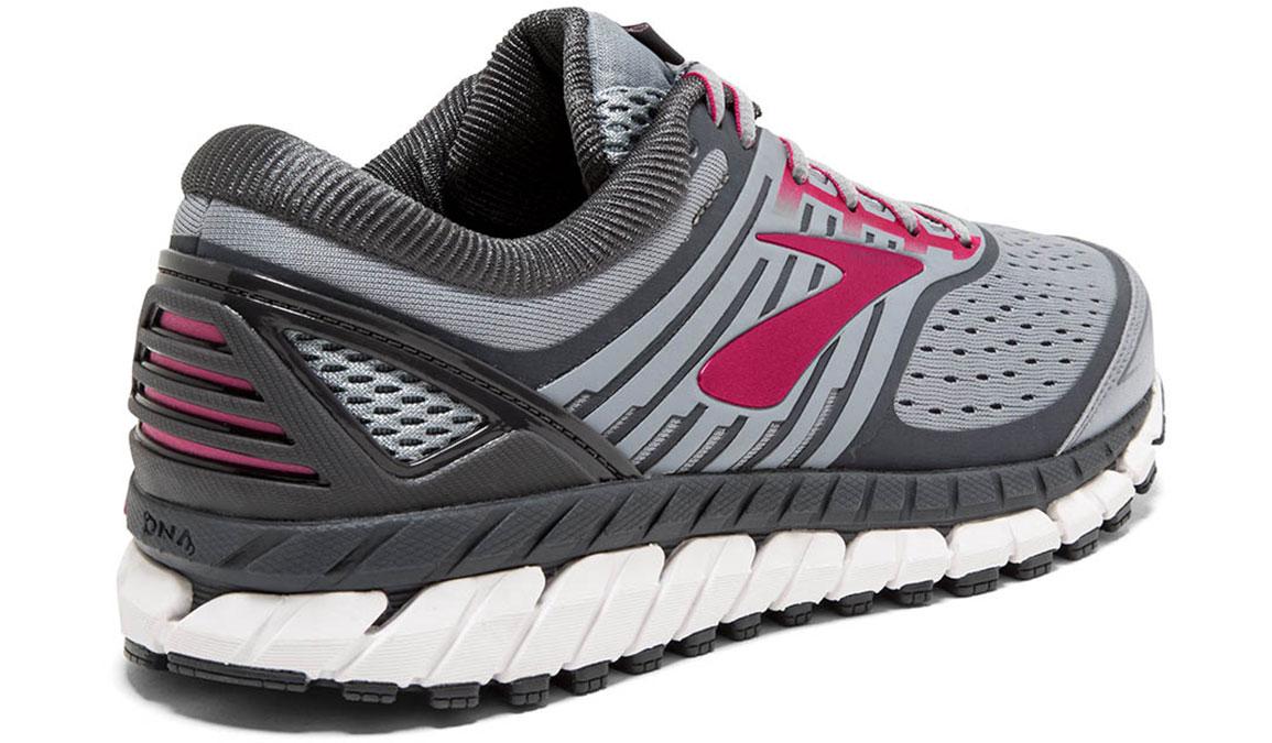 Women's Brooks Ariel 18 Running Shoe - Color: Grey/Pink (Regular Width) - Size: 10, Grey/Pink, large, image 4