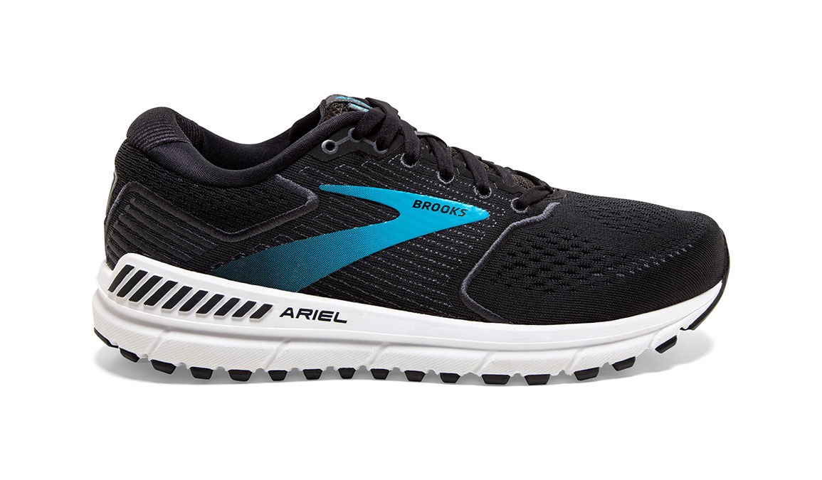 Women's Brooks Ariel '20 Running Shoe - Color: Black/Ebony/Blue (Regular Width) - Size: 7.5, Black, large, image 1