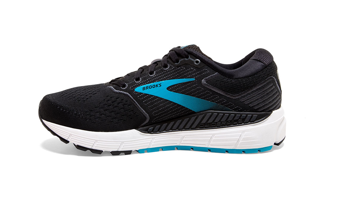 Women's Brooks Ariel '20 Running Shoe - Color: Black/Ebony/Blue (Regular Width) - Size: 7.5, Black, large, image 2