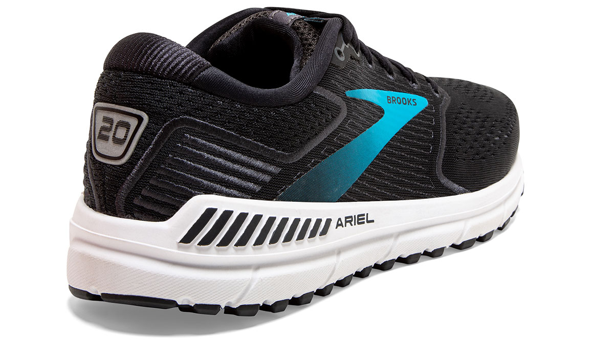 Women's Brooks Ariel '20 Running Shoe - Color: Black/Ebony/Blue (Regular Width) - Size: 7.5, Black, large, image 4