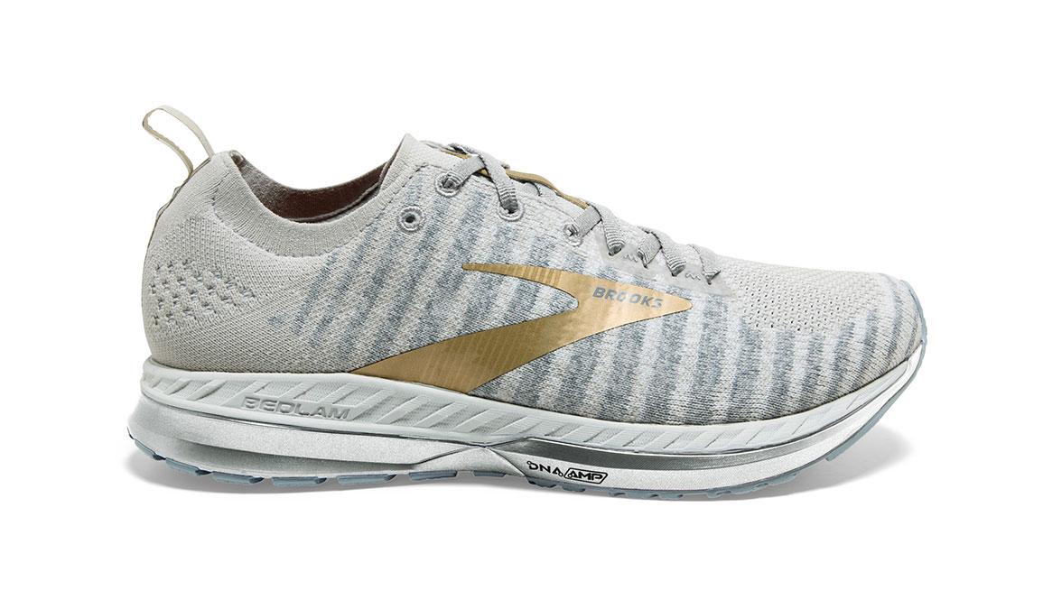 Women's Brooks Bedlam 2 Running Shoe - Color: White/Grey/Gold (Regular Width) - Size: 5, White/Gold, large, image 1