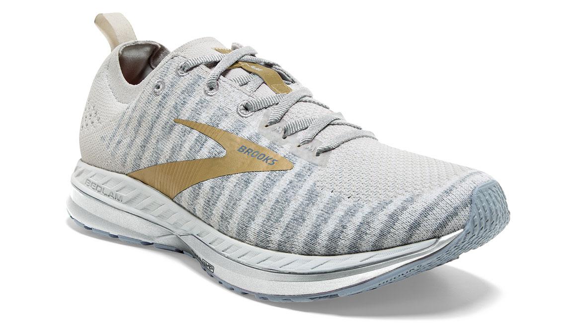 Women's Brooks Bedlam 2 Running Shoe - Color: White/Grey/Gold (Regular Width) - Size: 5, White/Gold, large, image 2
