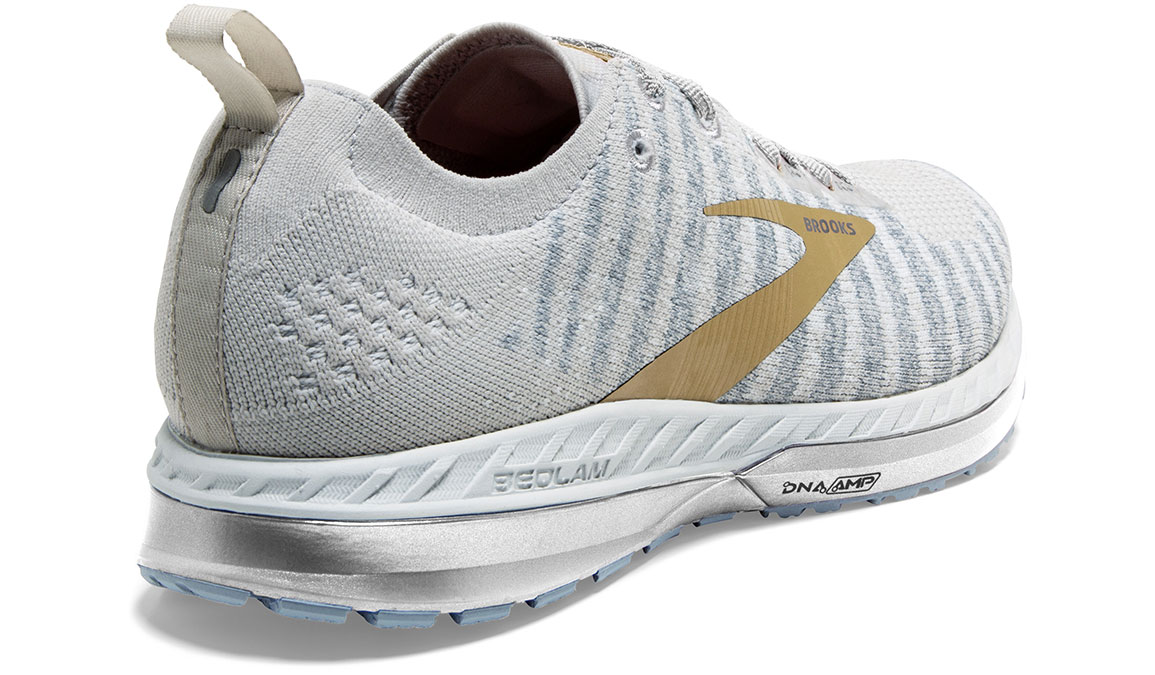 Women's Brooks Bedlam 2 Running Shoe - Color: White/Grey/Gold (Regular Width) - Size: 5, White/Gold, large, image 3