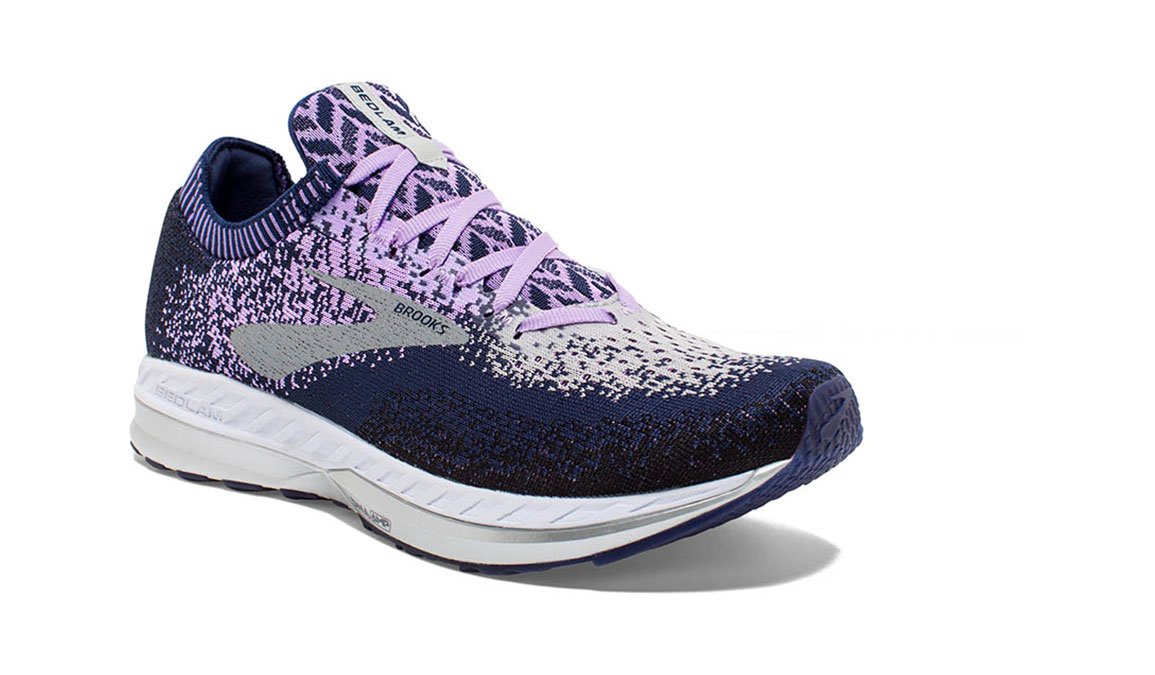 Women's Brooks Bedlam Running Shoe - Color: Navy/Lilac (Regular Width) - Size: 6, Navy/Purple, large, image 2