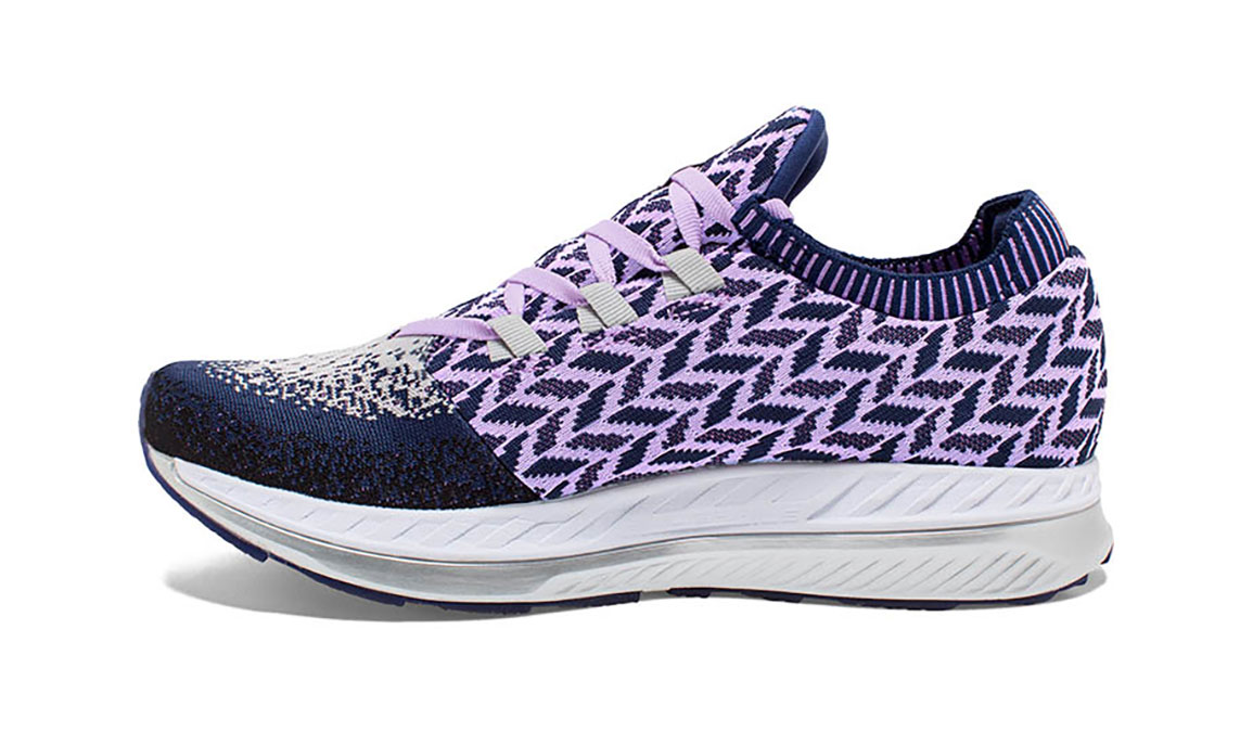Women's Brooks Bedlam Running Shoe - Color: Navy/Lilac (Regular Width) - Size: 6, Navy/Purple, large, image 3