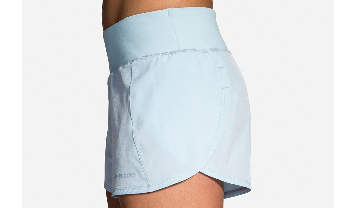 """Women's Brooks Chaser 5"""" Running Shorts - Color: Glacier/Navy Size: S, Glacier, large, image 3"""