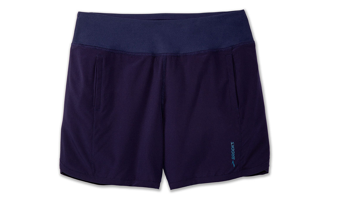"Women's Brooks Chaser 7"" Running Shorts - Color: Navy Size: L, Navy, large, image 2"