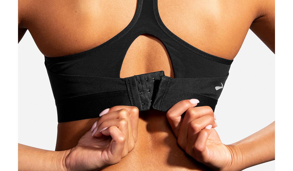 Women's Brooks Dare Racerback Bra - Color: Black - Size: 32DD, Black, large, image 5