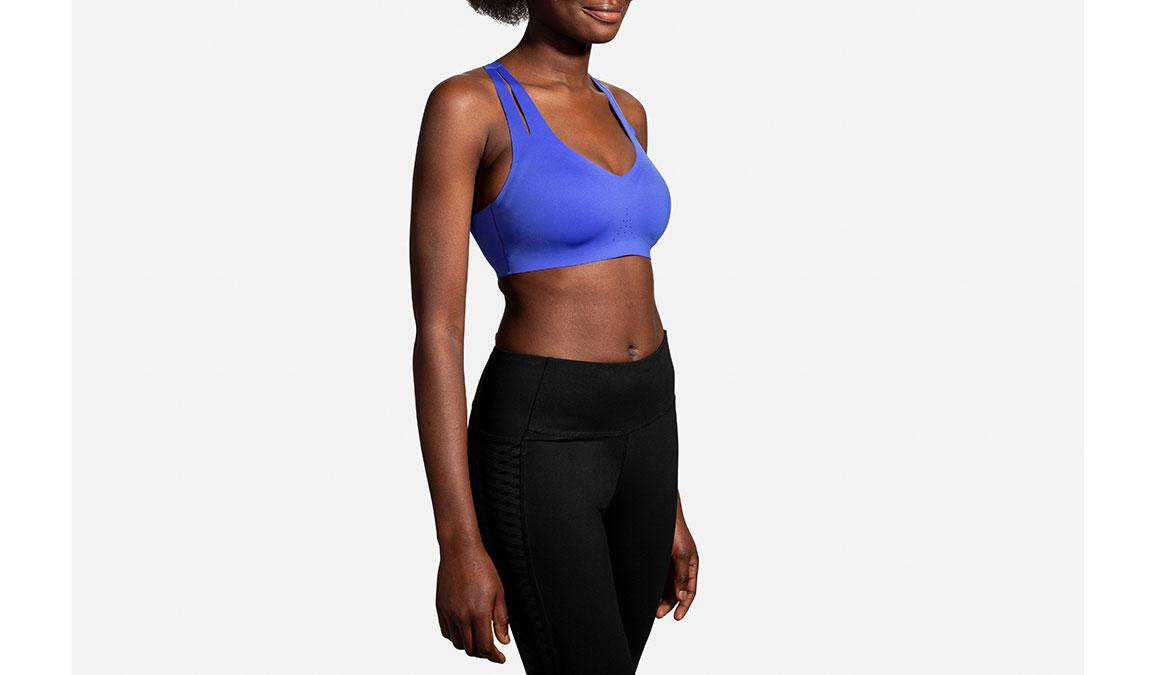 Women's Brooks Dare Strappy Bra - Color: Lapis Size: 32, Blue, large, image 4