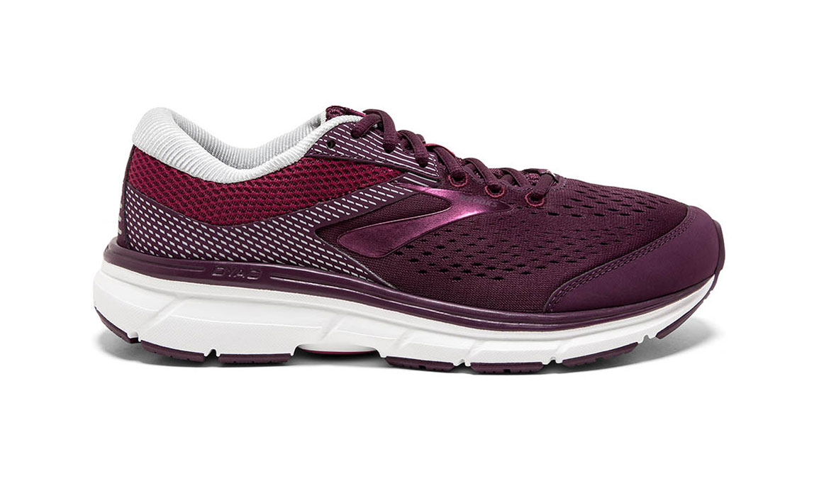 Women's Brooks Dyad 10 Running Shoe - Color: Purple/Pink (Regular Width) - Size: 10.5, Purple/Pink, large, image 1
