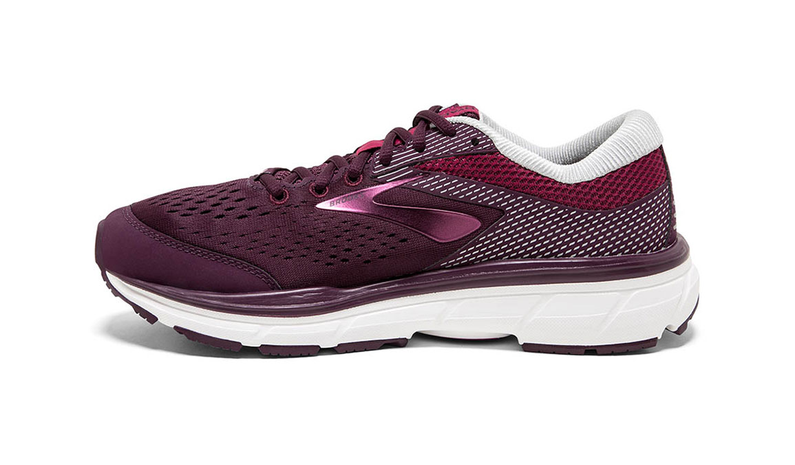Women's Brooks Dyad 10 Running Shoe - Color: Purple/Pink (Regular Width) - Size: 10.5, Purple/Pink, large, image 2
