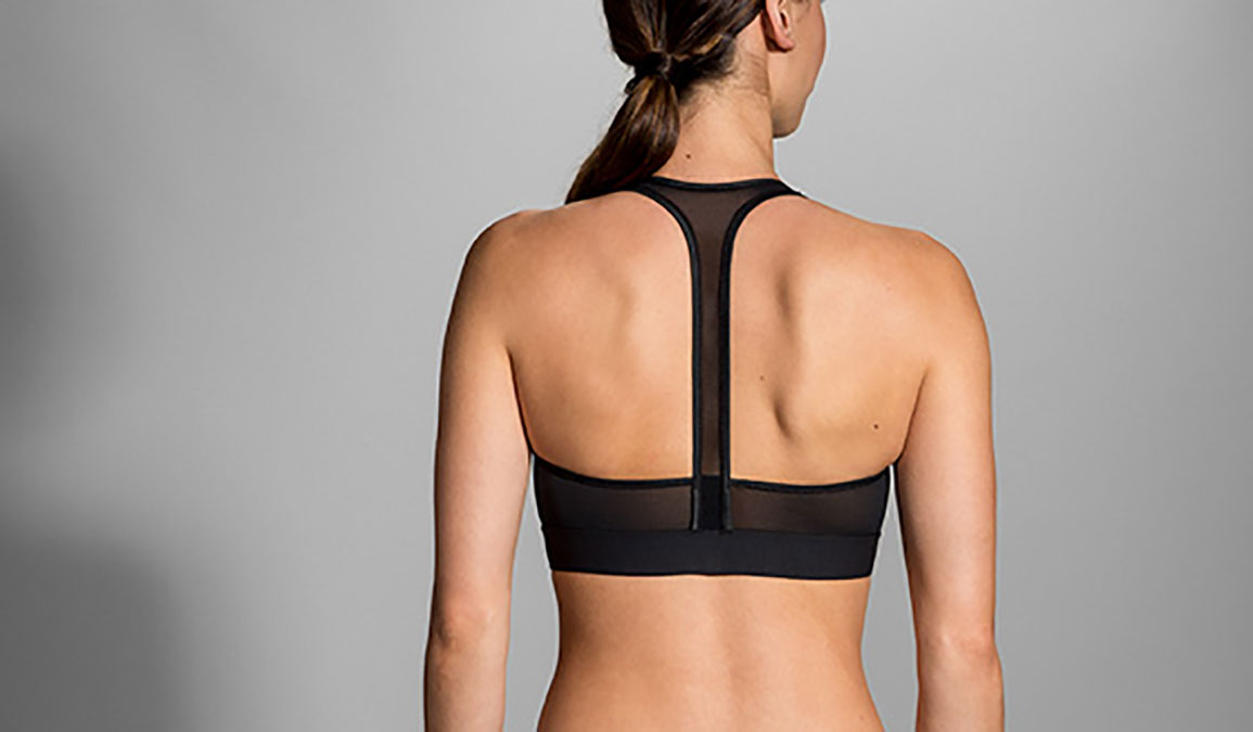 Women's Brooks Fastforward Zip Bra - Color: Black Size: M, Black, large, image 2