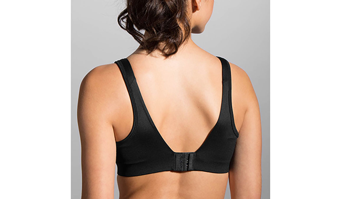 Women's Brooks Fiona Sports Bra  - Color: Black Size: 30DD, Black, large, image 2