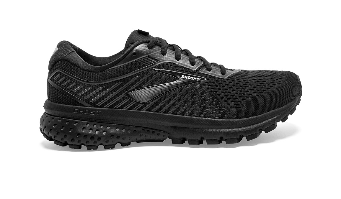 Women's Brooks Ghost 12 Running Shoe - Color: Black/Grey (Regular Width) - Size: 6.5, Black/Grey, large, image 1