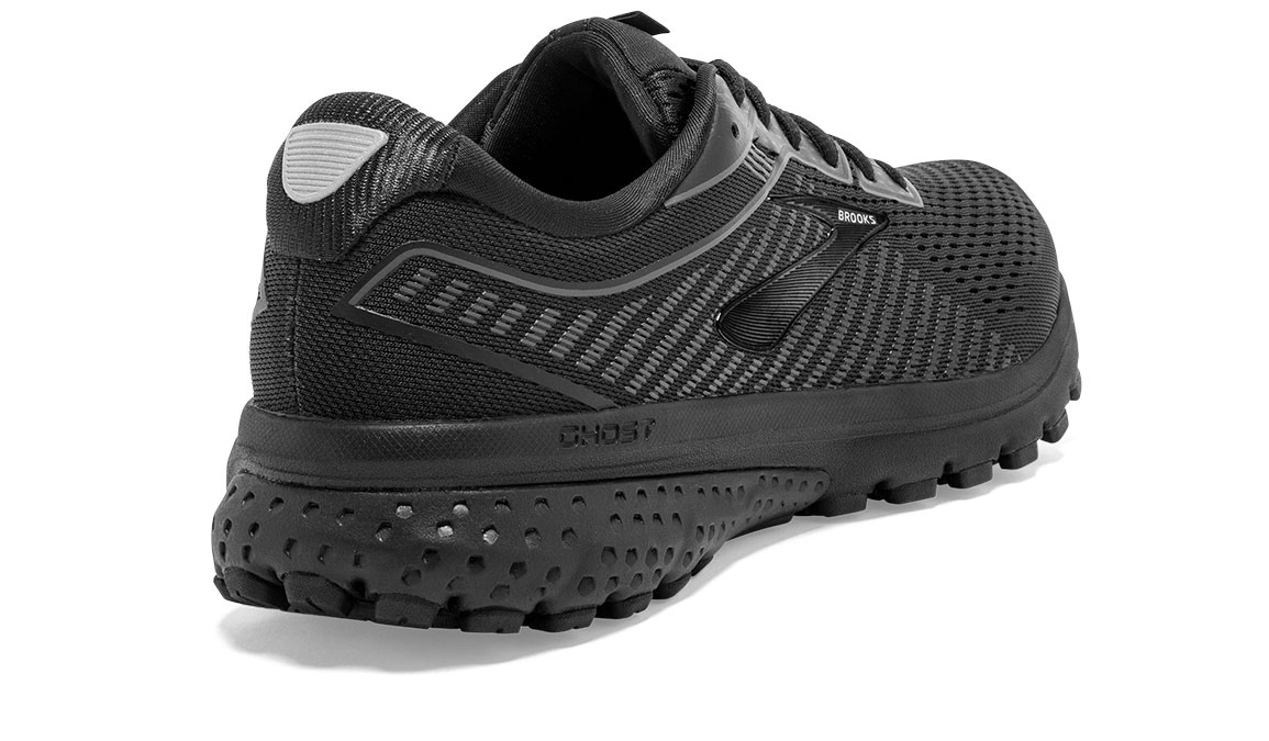 Women's Brooks Ghost 12 Running Shoe - Color: Black/Grey (Regular Width) - Size: 6.5, Black/Grey, large, image 2
