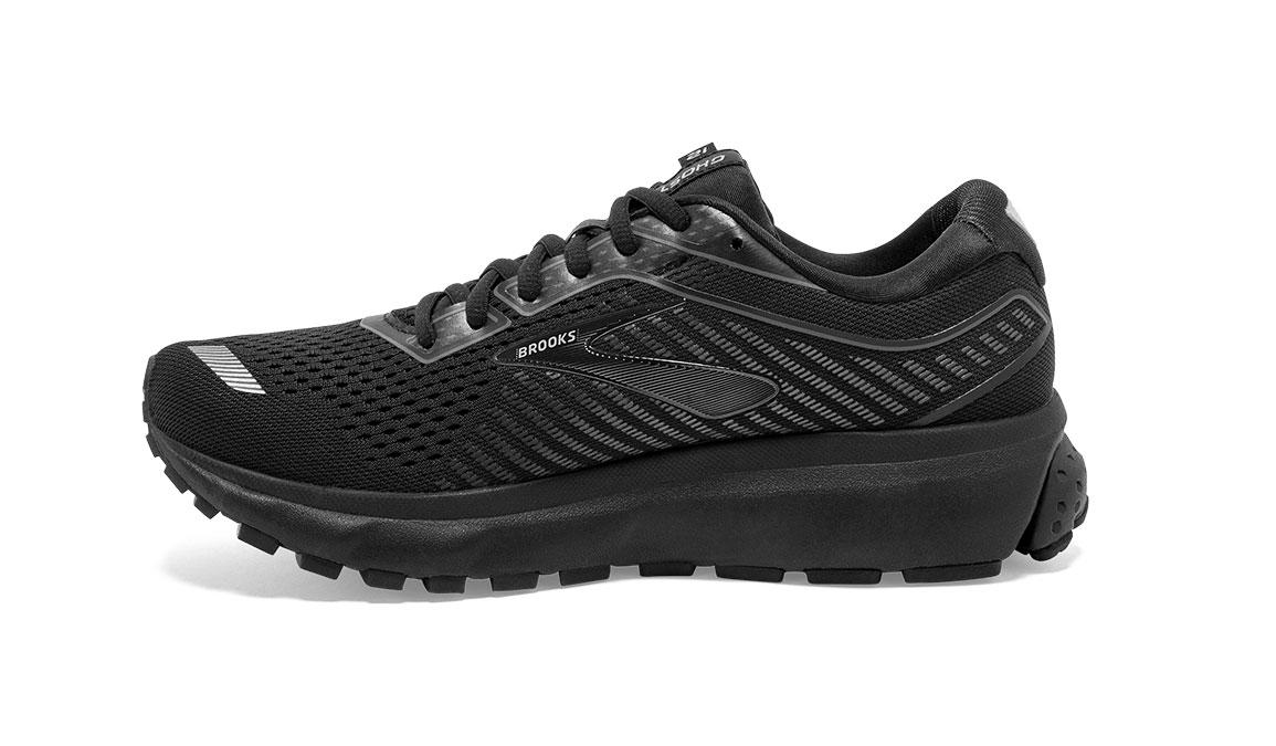 Women's Brooks Ghost 12 Running Shoe - Color: Black/Grey (Regular Width) - Size: 6.5, Black/Grey, large, image 3