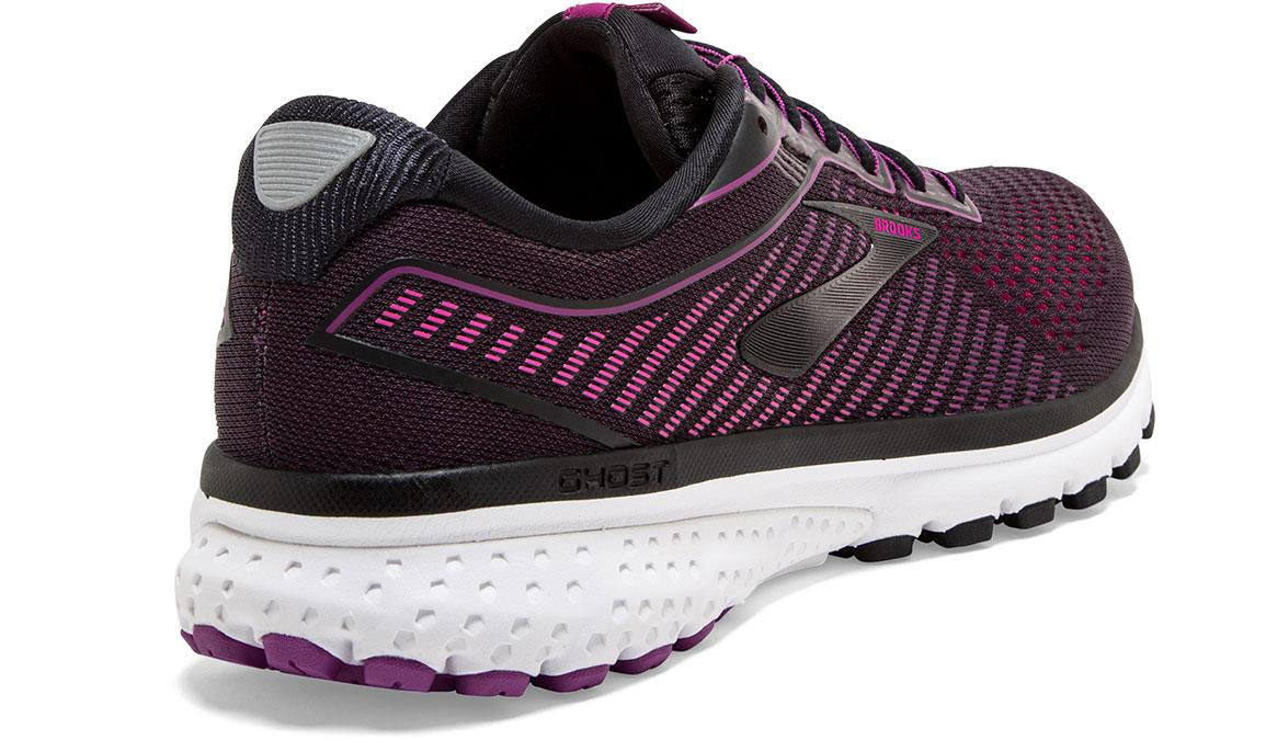 Women's Brooks Ghost 12 Running Shoe - Color: Black/Hollyhock (Regular Width) - Size: 8.5, Black/Pink, large, image 2