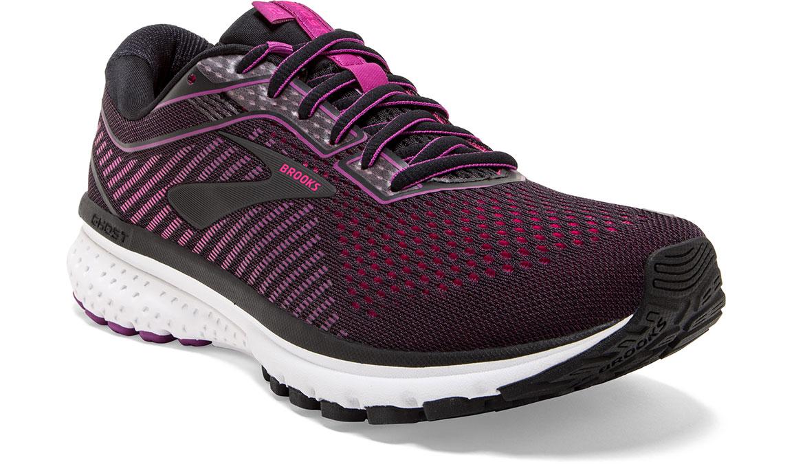Women's Brooks Ghost 12 Running Shoe - Color: Black/Hollyhock (Regular Width) - Size: 8.5, Black/Pink, large, image 4