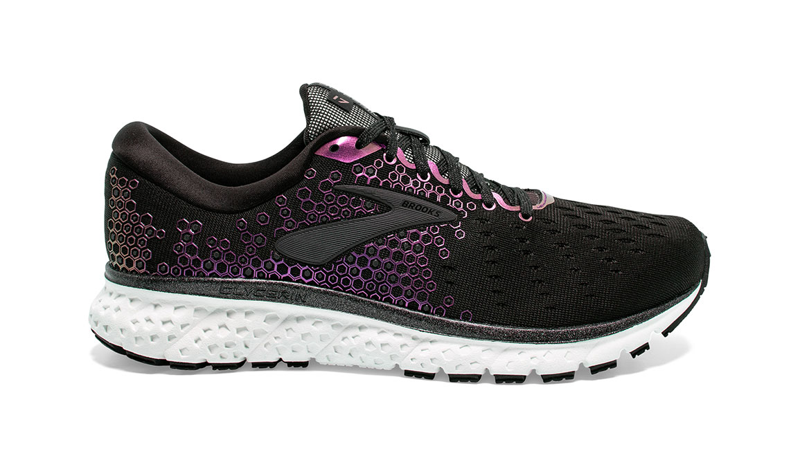 Women's Brooks Glycerin 17 Running Shoe - Color: Black/Iridescent (Regular Width) - Size: 7.5, Black/Iridescent, large, image 1