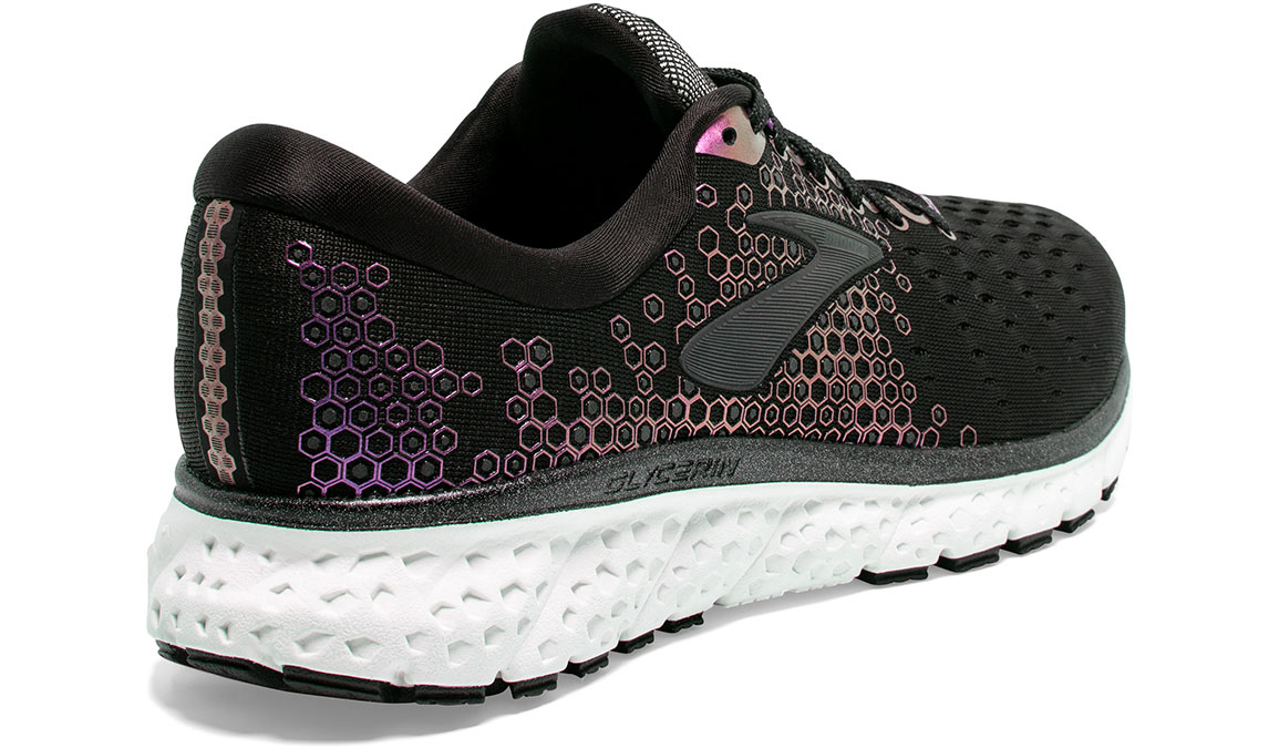 Women's Brooks Glycerin 17 Running Shoe - Color: Black/Iridescent (Regular Width) - Size: 7.5, Black/Iridescent, large, image 3