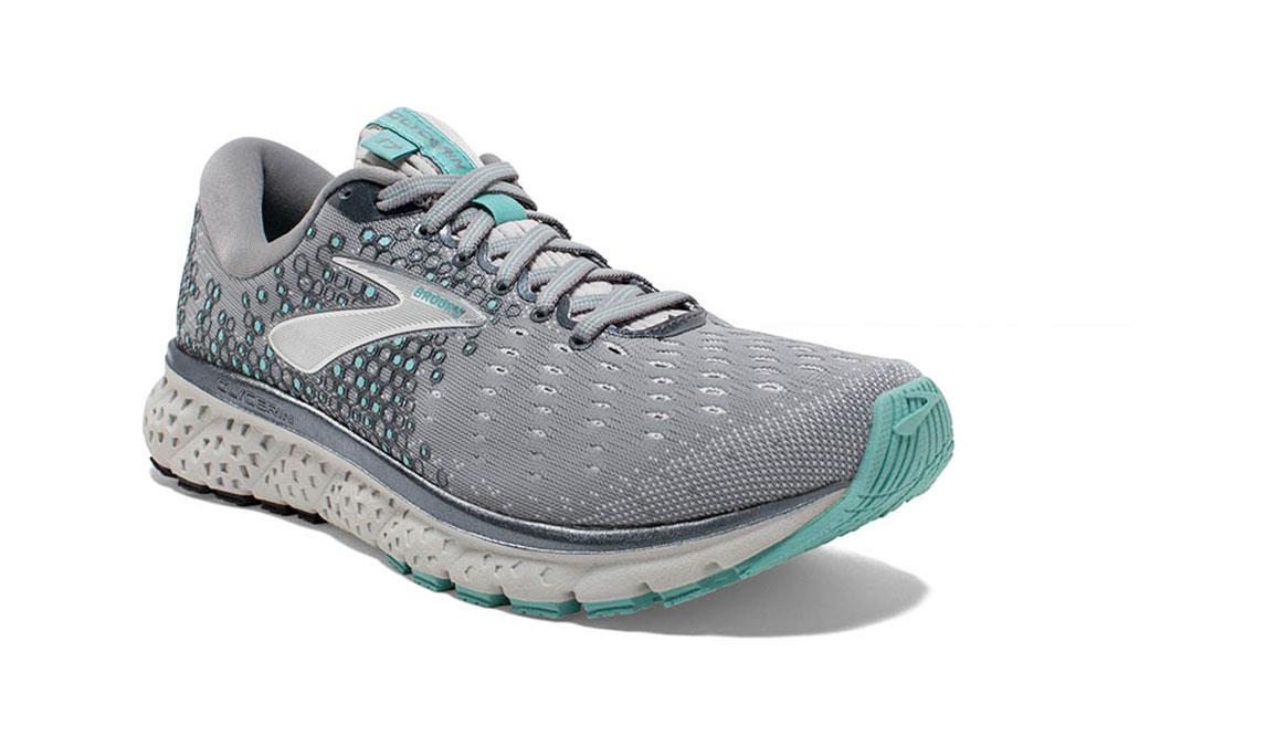 Women's Brooks Glycerin 17 Running Shoe - Color: Grey/Aqua/Ebony (Regular Width) - Size: 8.5, Grey/Aqua, large, image 2
