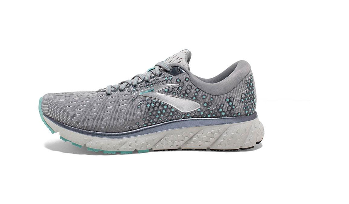 Women's Brooks Glycerin 17 Running Shoe - Color: Grey/Aqua/Ebony (Regular Width) - Size: 8.5, Grey/Aqua, large, image 4