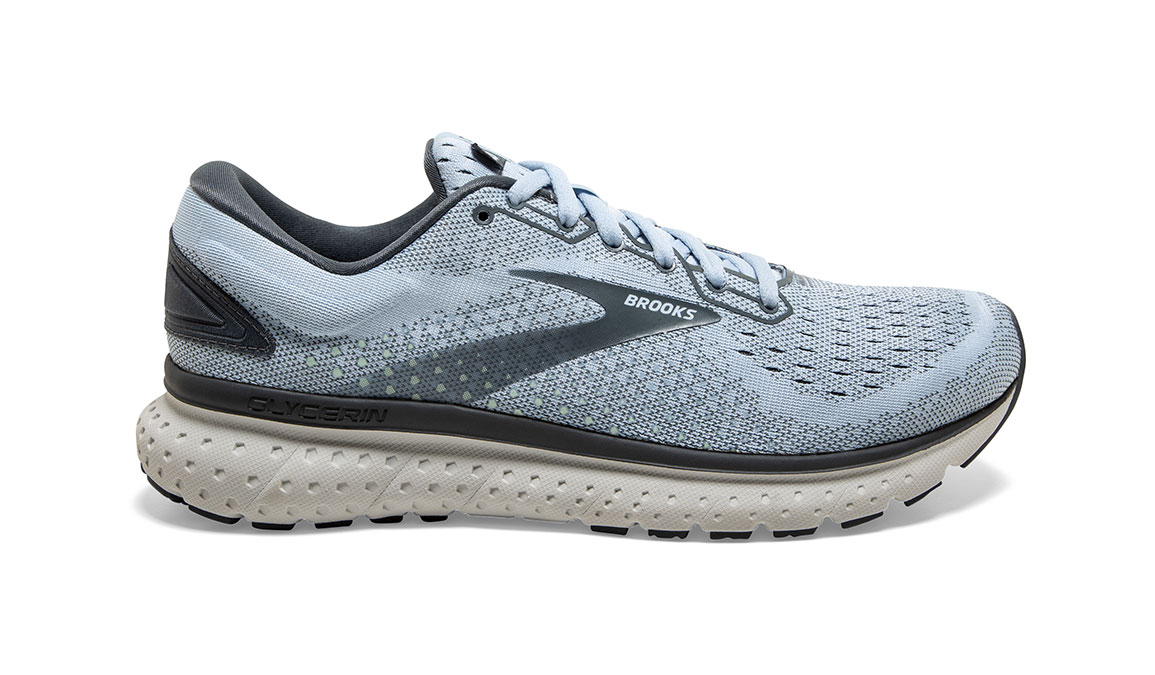 Women's Brooks Glycerin 18 Running Shoe - Color: Kentucky/Turbulence (Regular Width) - Size: 6, Blue/Grey, large, image 1