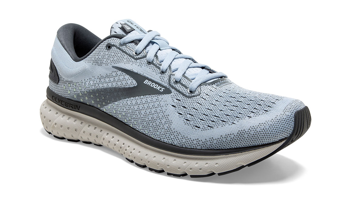 Women's Brooks Glycerin 18 Running Shoe - Color: Kentucky/Turbulence (Regular Width) - Size: 6, Blue/Grey, large, image 2